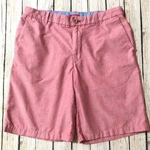 Izod light red cotton flat Front shorts men's 33